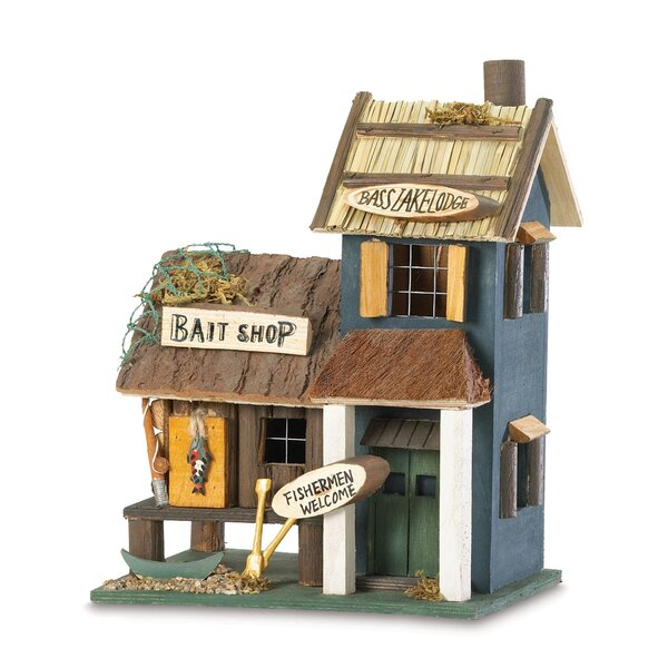 Fishing Tackle 10 in x 8 in x 6 in Birdhouse by Zingz & Thingz