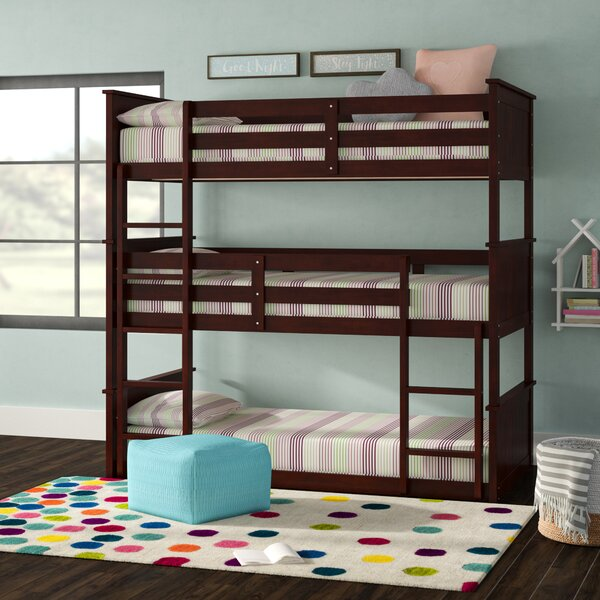 Idris Twin Over Twin Triple Bunk Bed by Viv + Rae