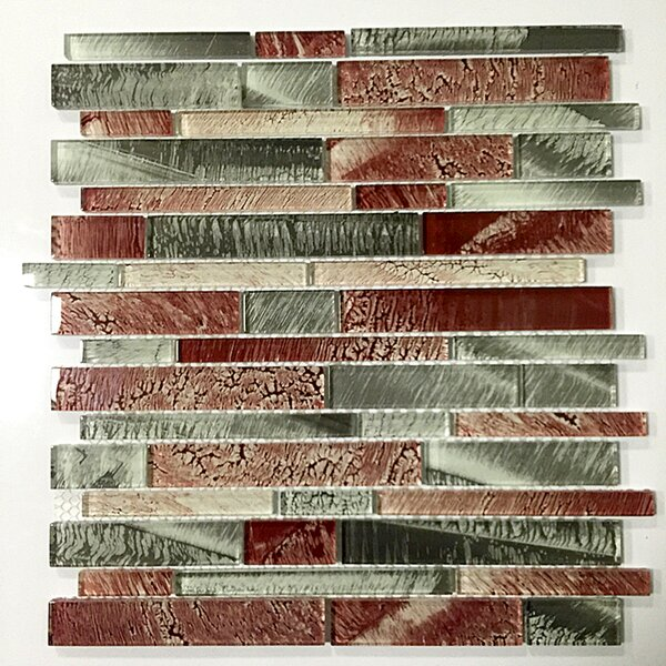 12 x 12 Glass Tile in Gray and Brown by Upscale Designs by EMA