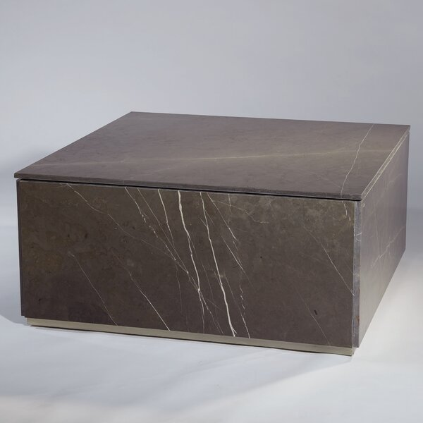 Graffito Marble Coffee Table With Tray Top By Global Views
