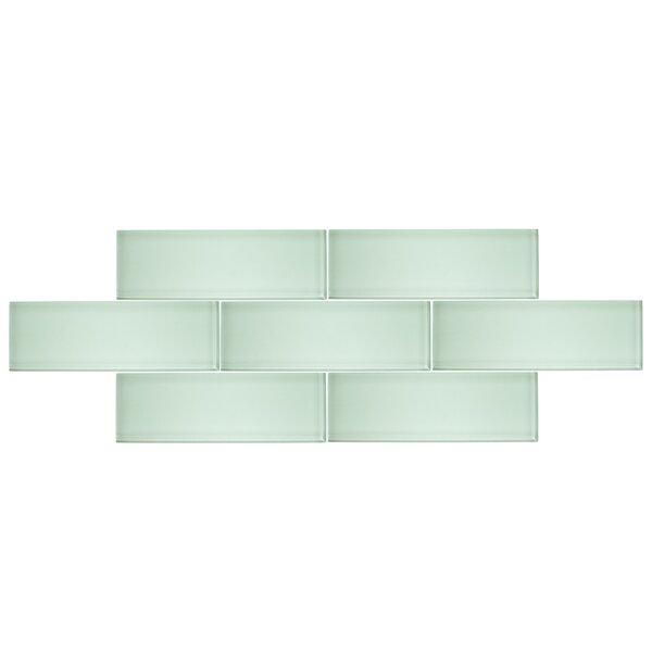 4 x 12 Glass Subway Tile in Seafoam by Vicci Design