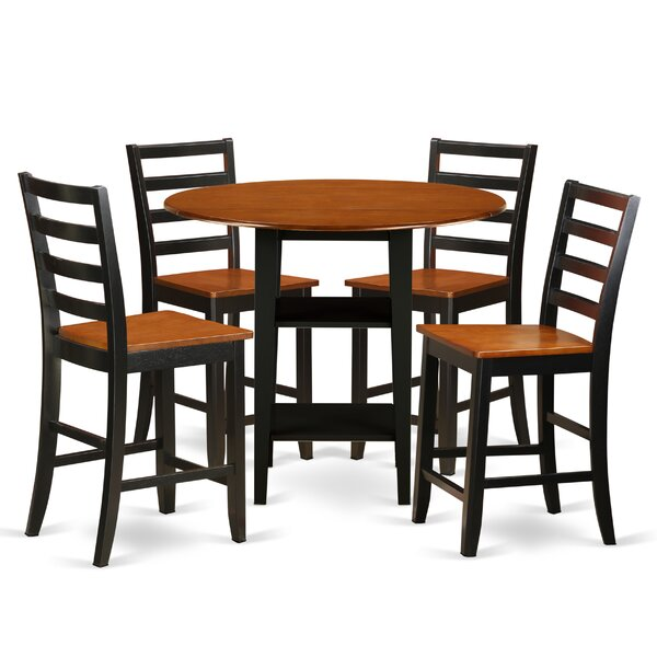 Tyshawn Counter Height 5 Piece Pub Table Set by Charlton Home Charlton Home