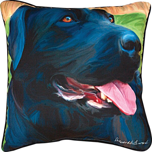 Handsome Lab Throw Pillow by Manual Woodworkers & Weavers