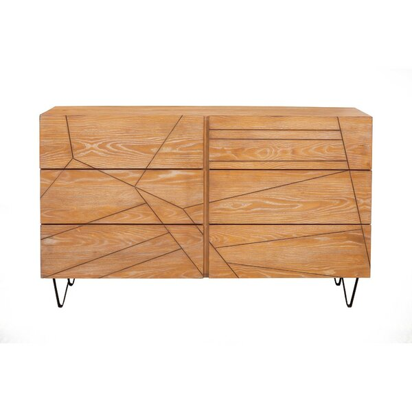 Bourbonnais 6 Drawer Double Dresser by Foundry Select