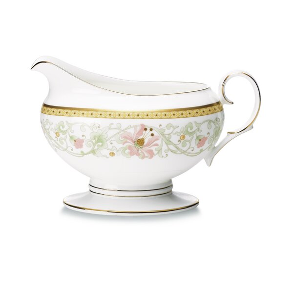 Blooming Splendor 16 oz. Gravy Boat with Tray by Noritake