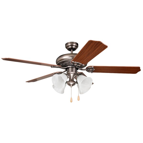 52 Jaynes 5-Blade Traditional Ceiling Fan by Alcott Hill