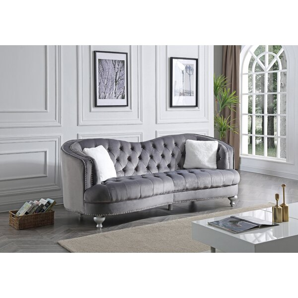 Karli Chesterfield Sofa by Everly Quinn