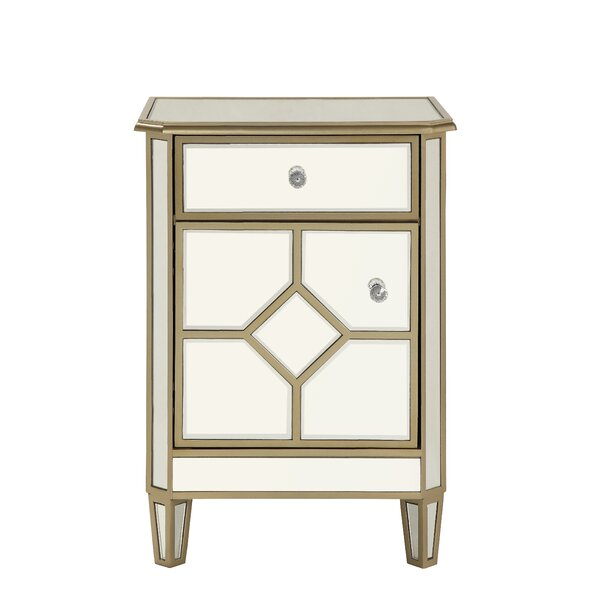 Aponte 1 Drawer Accent Chest by House of Hampton