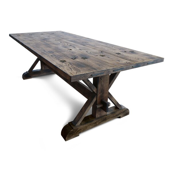 Valor Solid Wood Dining Table by Loon Peak