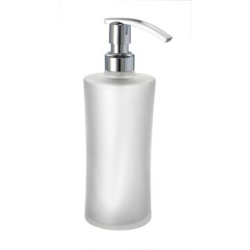Complements Round Frosted Crystal Glass Soap Dispenser by Windisch by Nameeks