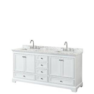 Best Reviews Deborah 72 Double Bathroom Vanity Set ByWyndham Collection