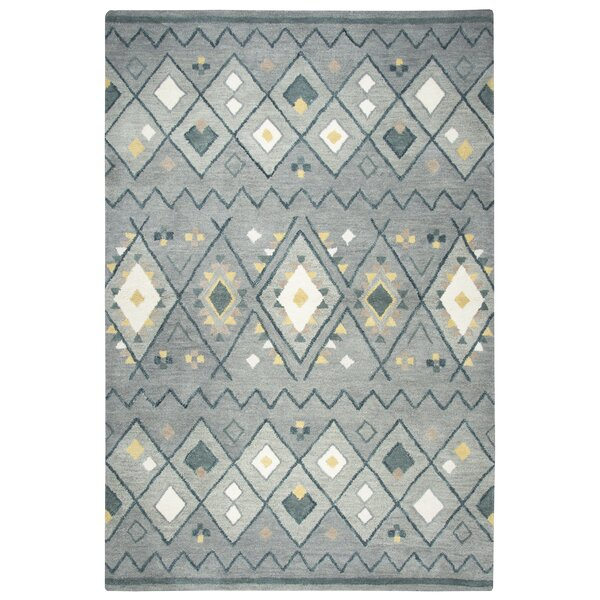 Nona Hand-Tufted Wool Gray Area Rug by Union Rustic