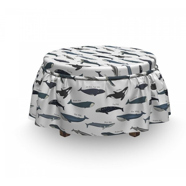 Free Shipping Type Of Fish Grey Fin Killer Ottoman Slipcover (Set Of 2)