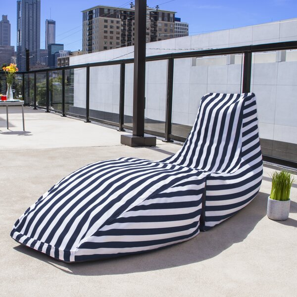 Prado Outdoor Striped Bean Bag Chaise Lounge Chair by Jaxx