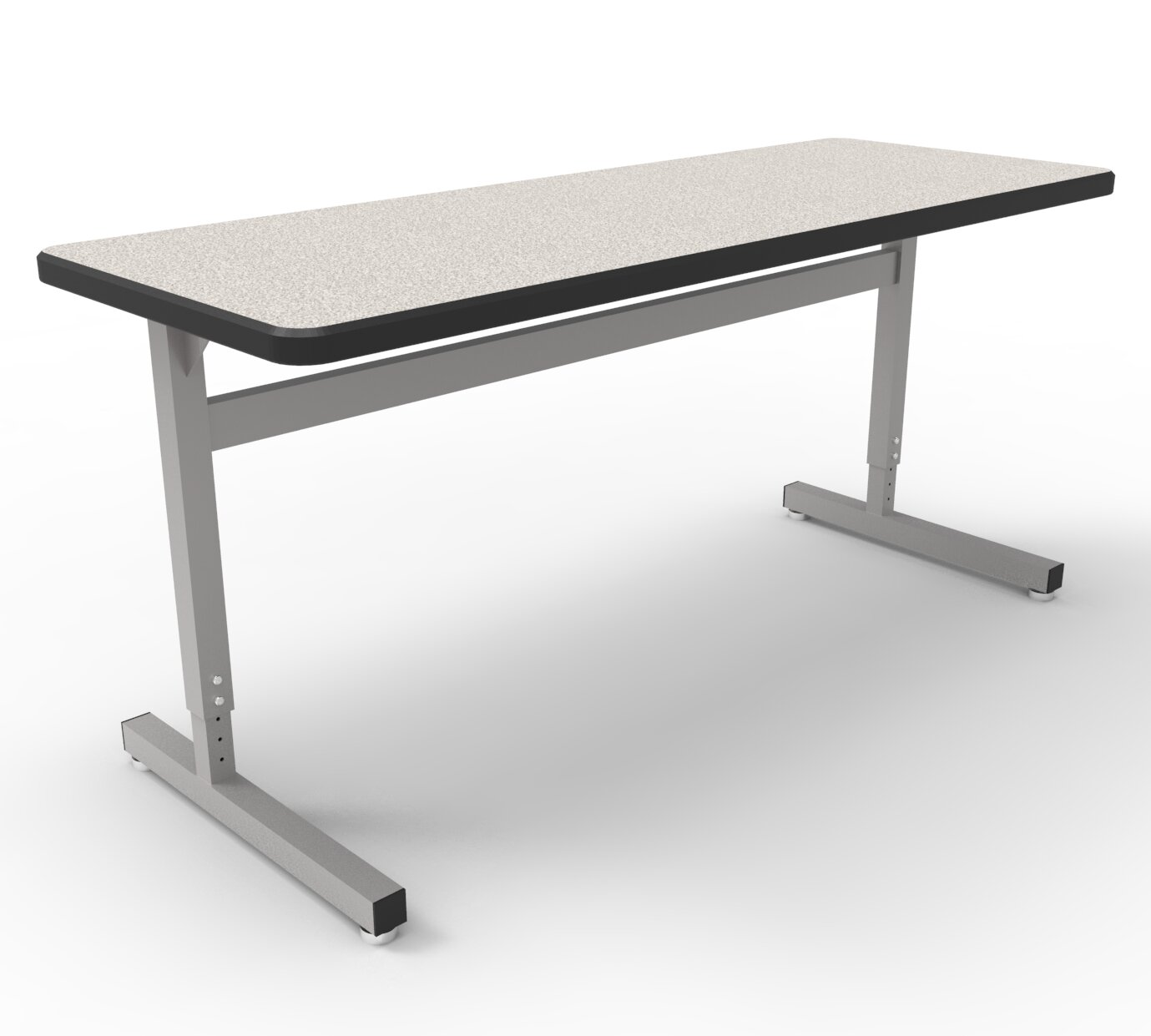 WB Manufacturing UneT Manufactured Wood Adjustable Height Training - Adjustable height training table