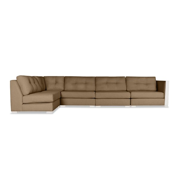Steffi Left Hand Facing Modular Sectional with Ottoman by Orren Ellis Orren Ellis