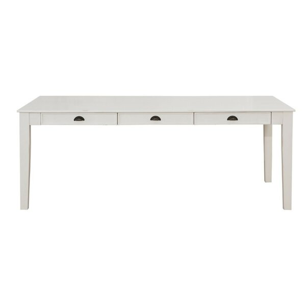Haywa Transitional Solid Wood Dining Table by August Grove