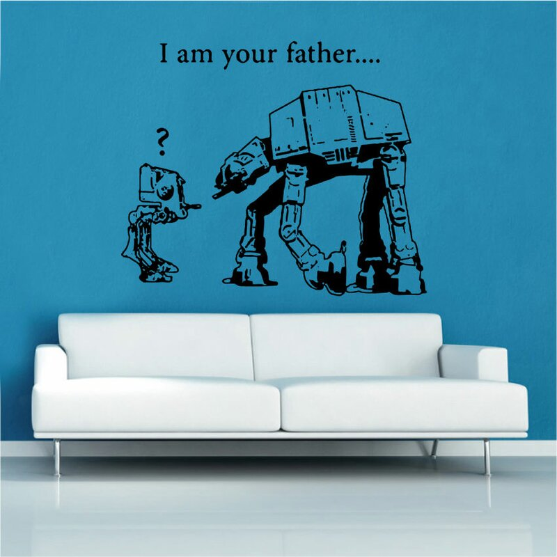 kult kanvas wandtattoo banksy star wars bewertungen. Black Bedroom Furniture Sets. Home Design Ideas