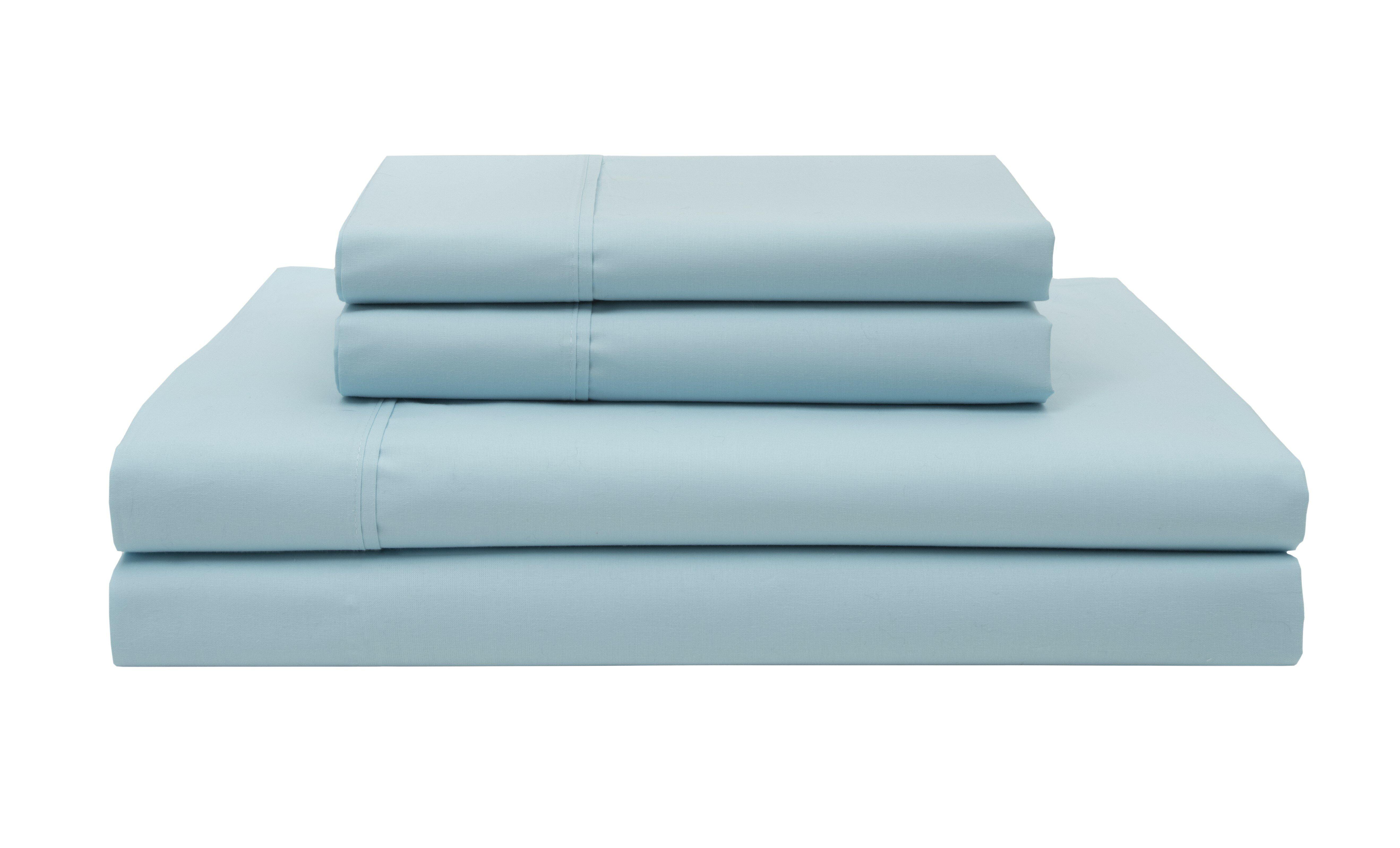 Cool /& Crisp 300 TC 100/% Cotton Percale Sheet Set Elite Home Sheets 6 Colors