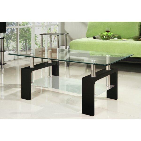 Brayden Studio Glass Top Coffee Tables