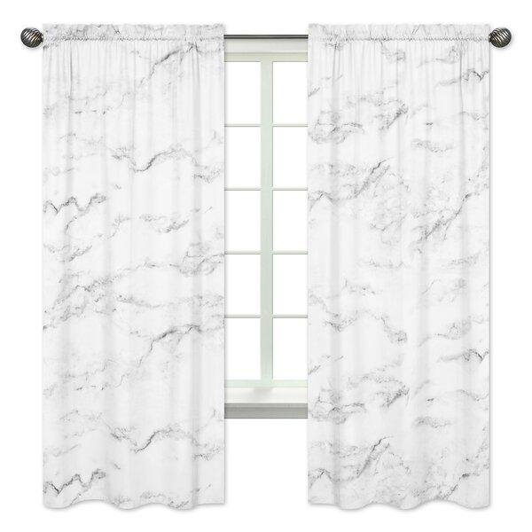 Marble Window Semi-Sheer Rod Pocket Curtain Panels (Set of 2) by Sweet Jojo Designs