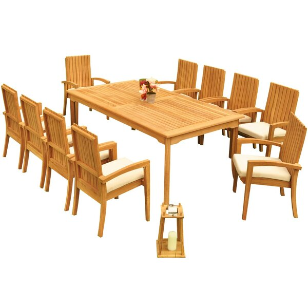 Willard 11 Piece Teak Dining Set Bayou Breeze W001959738