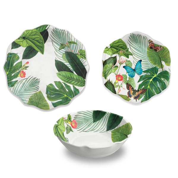 Virgie 12 Piece Melamine Salad Bowl Set by Beachcrest Home