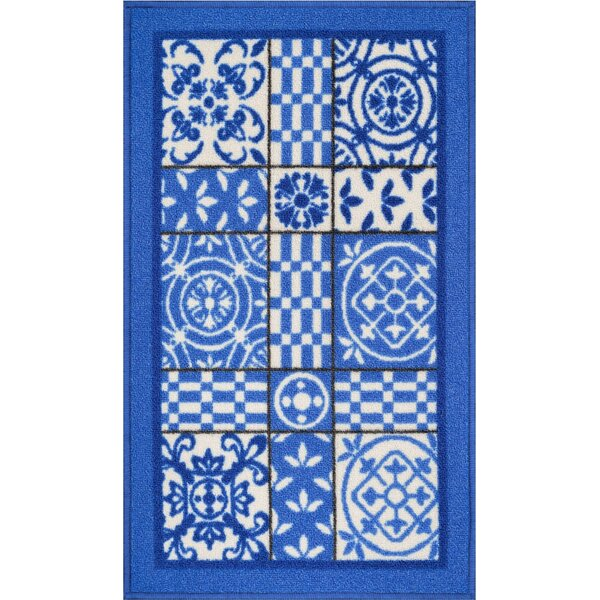 Petrillo Blue Area Rug by Bungalow Rose