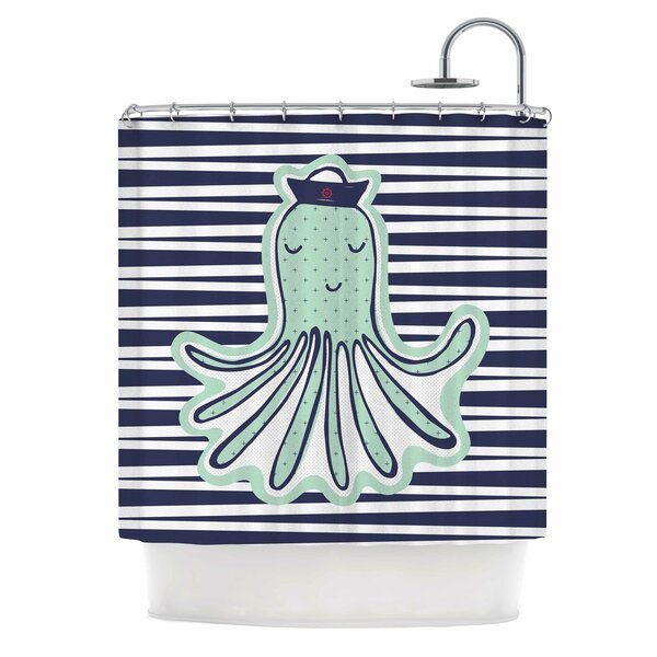 Pulpo by MaJoBV Octopus Shower Curtain by East Urban Home