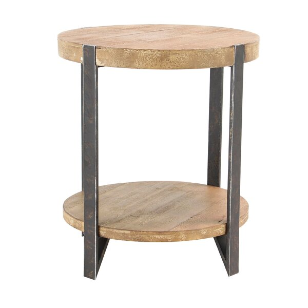 Backlund Modern 2-Tiered Rounded Table by Loon Peak