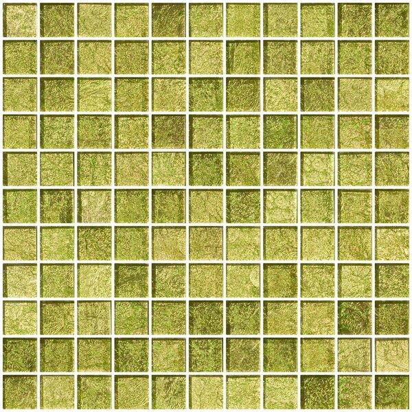 1 x 1 Glass Mosaic Tile in Golden Dew by Susan Jablon
