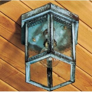 1100 Series 1-Light Outdoor Flush Mount By Brass Traditions Outdoor Lighting