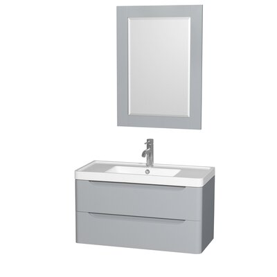 "Bathroom Vanities Gainesville Fl eviva ashy 36"" single bathroom vanity set & reviews | wayfair"