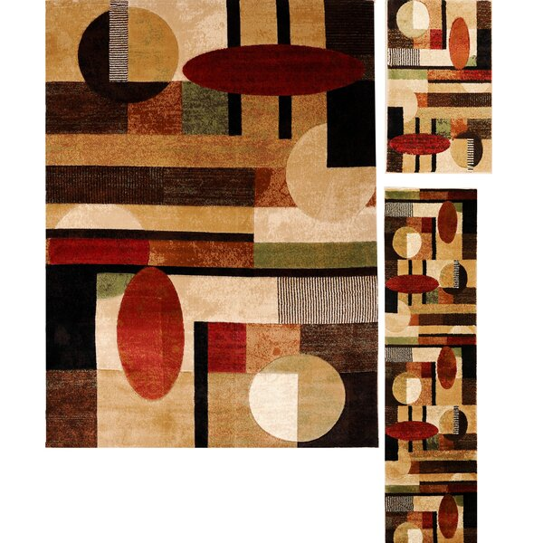 Cathryn Modern Shapes 3 Piece Rug Set by Latitude Run