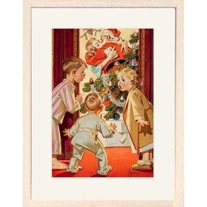 Under the Mistletoe Framed Print of Painting by Buyenlarge