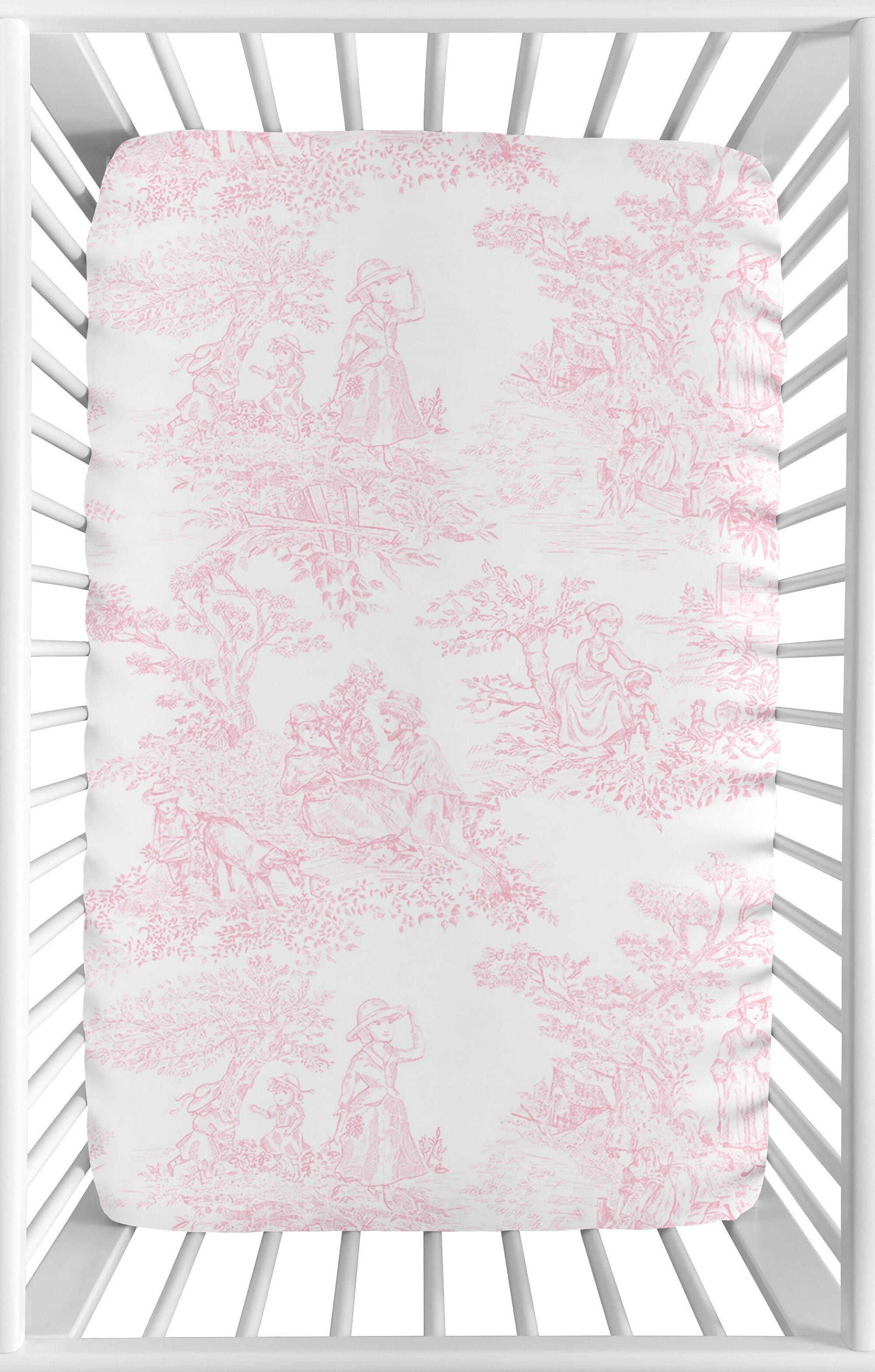 Sweet Jojo Designs French Toile Mini Fitted Crib Sheet Reviews Wayfair