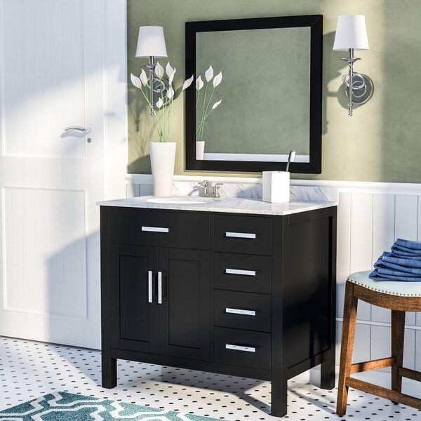 Brincken 36 Single Bathroom Vanity Set with Mirror by Andover Mills