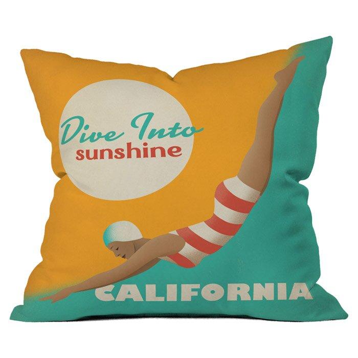 Deny Designs Anderson Design Group Dive California Throw Pillow & Reviews Wayfair