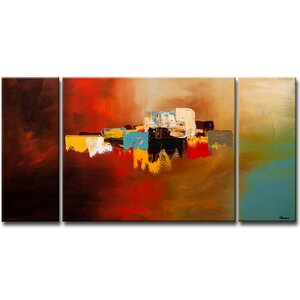 'Du-Soleil' by Cguedez Oil Painting Print Multi-Piece Image on Canvas by Ivy Bronx