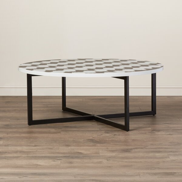 Abba Cross Legs Coffee Table By Bungalow Rose