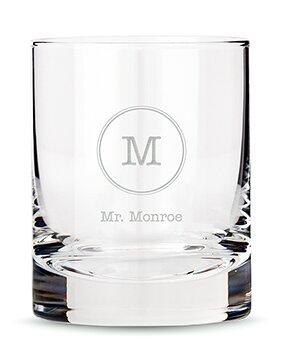Personalized Monogrammed 11 Oz. Whiskey Glass by Weddingstar