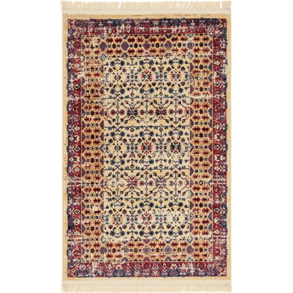 Rumsey Beige Area Rug by World Menagerie