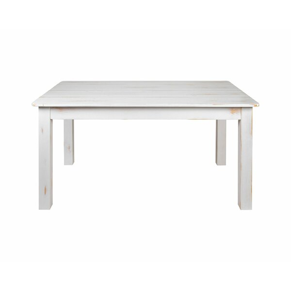 Crothers Pine Solid Wood Dining Table by Rosalind Wheeler Rosalind Wheeler
