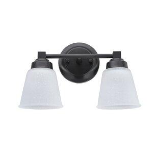 Check Prices Farnham Metal 2-Light Vanity Light By Charlton Home