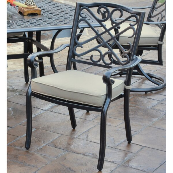 Jeremiah Stacking Patio Dining Chair with Cushion (Set of 4) by Hazelwood Home