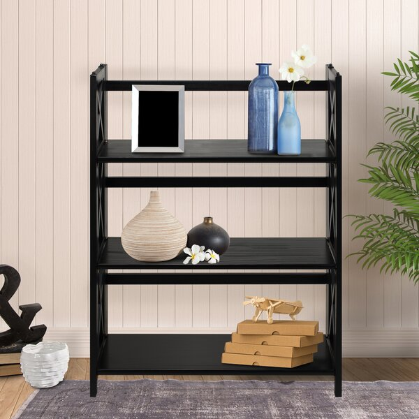 Northumberland 3-Shelf Folding Etagere Bookcase by Three Posts