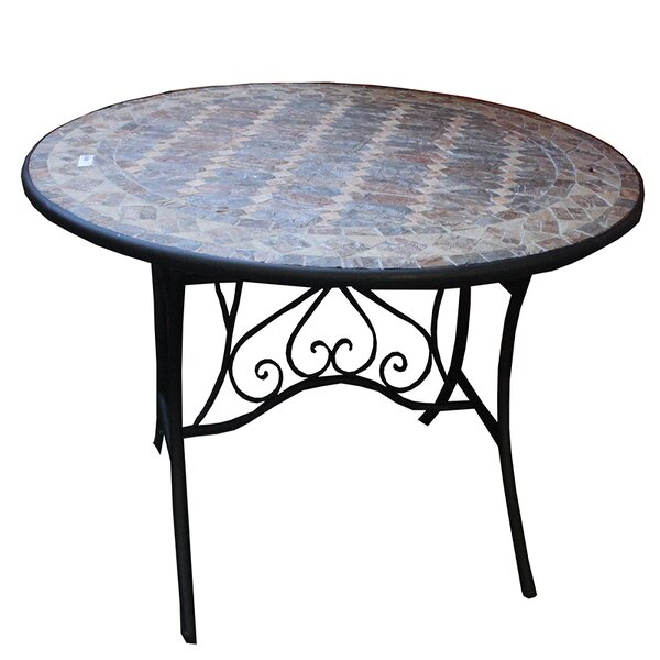 Charest Round Mosaic Metal Bistro Table by Fleur De Lis Living