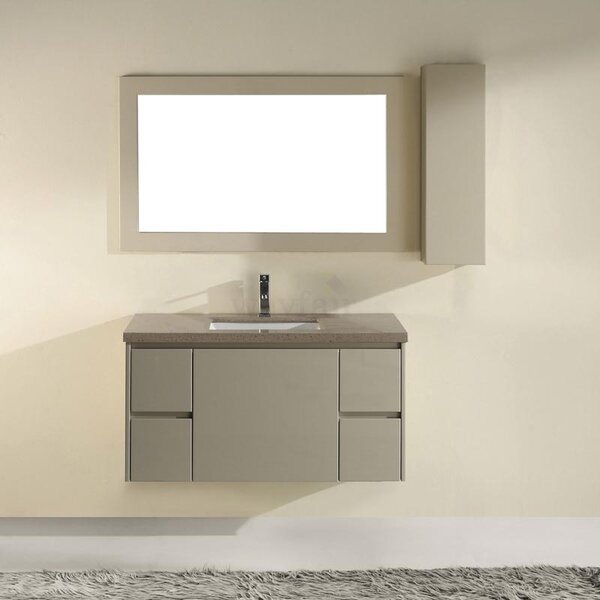 Barros 42 Single Bathroom Vanity Set with Mirror by Bauhaus Bath