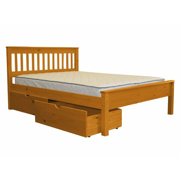 Treva Full Slat Bed with Drawers by Harriet Bee