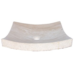 Read Reviews Zen Travertine Square Vessel Bathroom Sink By Eden Bath